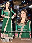 HOT DESIGNER BOLLYWOOD GREEN LONG ANARKALI SALWAR KAMEEZ KAREENA KAPOOR DRESS