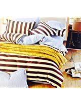 CnS BLACK & WHITE STRIPE BEDSHEET, KING SIZE WITH PILLOW COVERS, 100% COTTON