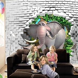 RC Tots Elephant Mural Wallpaper