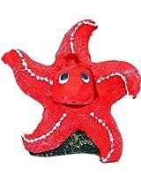 Taiyo Pluss Discovery Star Fish Red Aquarium Décor, (H x L) 4 inches x 2.5 inches