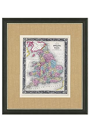 Mitchell-Antique Map of England & Wales, 1860's-1870's, 21\