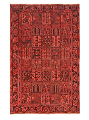 Hand-Knotted Color Transition Wool Rug, Dark Navy/Pink, 6' 7
