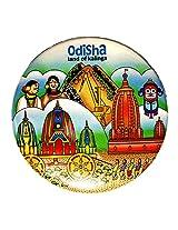 Indiavibes Designer Badge with Odisha 1 Theme