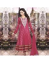Rani Pink Net Anarkali Suit