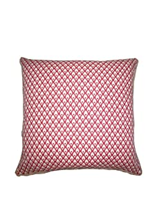 """Lacefield Designs Calais 20"""" x 20"""" Pillow, Spiced Coral"""