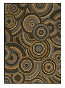 Rug Republic Soho Circles Rug (Brown)