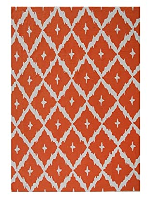 The Rug Market Tangier Rug (Orange/White)