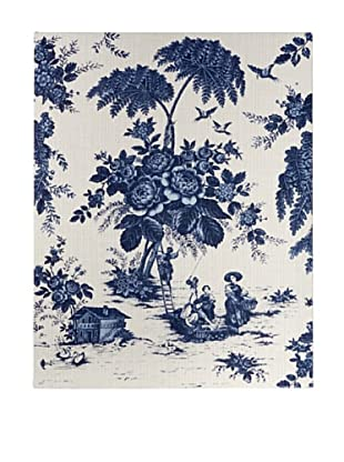 French Linen Collection Blue Toile Tapestry