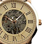 ESS Men's Antique Skeleton Roman Mechanical Watch WM273 Rosegold