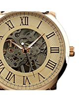 ESS Men's Antique Skeleton Roman Mechanical Watch WM273 Rosegold
