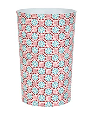 Malabar Bay Lulu Canvas Wastebasket, Pink