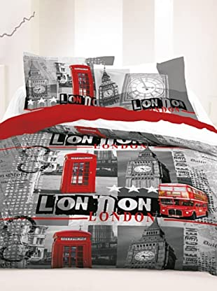 Travel Collection Completo Copripiumino London (Nebbia)