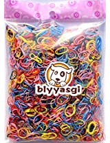 1 Bag Kids Mix Color Small Size Ponytail Holder, Children Hair Ring Rubber Band