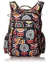 Ju-Ju-Be Be Right Back Backpack Diaper Bag, Dancing Dahlias