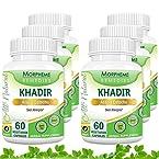 Morpheme Khadir (Acacia Catechu) for Skin Allergies - 500mg Extract - 60 Veg Capsules - 6 Bottles