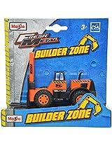 Maisto Builder Zone Forklift Die Cast Toy Truck (Orange)