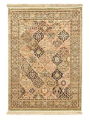 Persian Rug, Dark Yellow/Light Pink, 5' 6