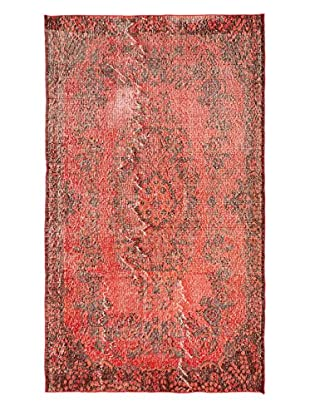 eCarpet Gallery One-of-a-Kind Hand-Knotted Anatolian Rug, Light Red, 3' 10