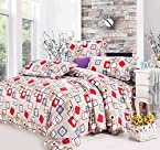 Story@Home Designer Polycotton Double Bedsheet with 2 Pillow Covers (SE1439)