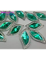 Beauty Heaven Rhinestones S Shape Green 15x30mm Strass Crystal For Sewing Accessories Diy Stones and Crystals Gems Bling Crafts.