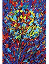 Faim Paintings Abstract Art Flowers Canvas Print 22x32 Frameless