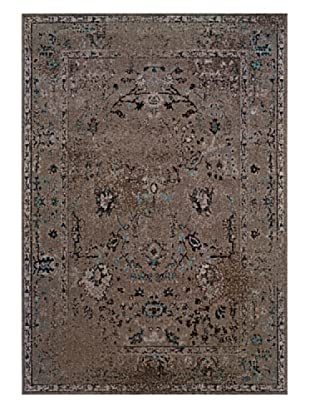 Granville Rugs Vintage Rug (Grey/Black/Brown/Blue)