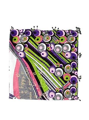 Desigual Pañuelo Spicolines (Violeta Multicolor)