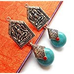 Turquoise and Budha earrings from Violetsz
