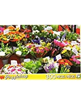 Puzzle Bug 300 Piece Puzzle ~ Colorful Market Flowers