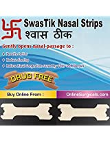 SwasTik 卐 Nasal Strips for Nasal Congestion Relief, Drug Free (Pack of 30 Strips)