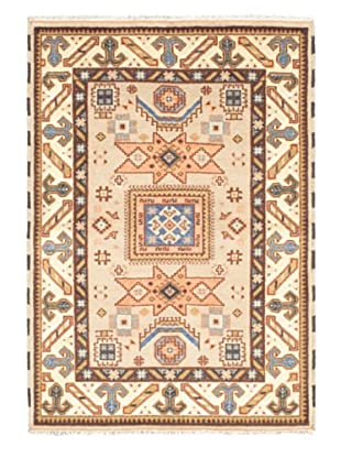 Hand-Knotted Royal Kazak Rug, Cream/Dark Cream, 4' 8
