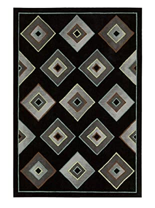 Kathy Ireland Home Retrotimes Rug (Black)