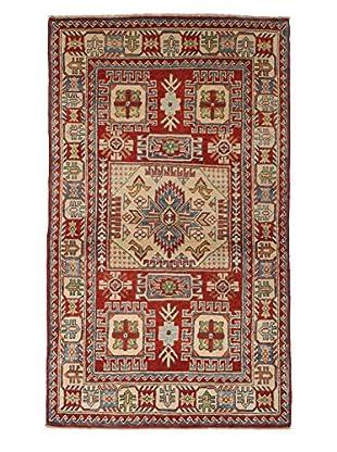 Darya Rugs Fine Kazak Oriental Rug, Red, 3' 3