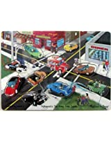 Magnetic Tow-Away Zone Game Melissa and Doug #127 Ice Cream Truck Police Jeep