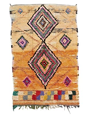 Mili Designs NYC Boucherouite Rug, Orange, 4'1