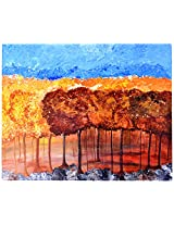 Liflad Artmart Acrylic and Canvas Abstract Nature Painting (61 cm x 61 cm)