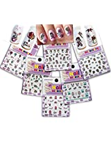 Festive & Fun 3D Nail Stickers Decals /LD1/- Rooster, Easter Egg, Bunny, Baby Cheek, etc. - Pack of 6