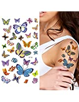 Supperb Temporary Tattoos Lots Of Butterflies Ii
