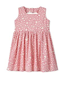 Noa Lily Girl's Heart Cut Out Back Cotton Dress (Multi)