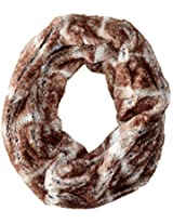 D&Y Women's Short Faux-Fur Single-Loop Infinity Scarf