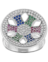 Define Jewellery Silver ring for Women (DFLR0120 )