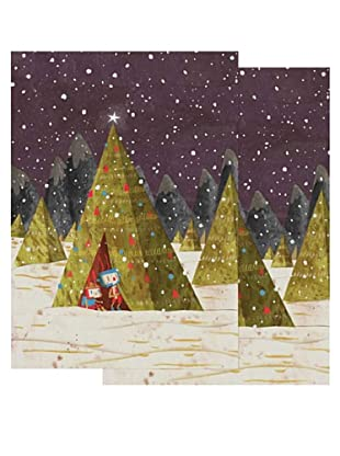 Nouvelles Images Tree Teepee 2-Pack Greeting Cards