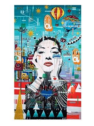 """Giorgio Casu-Maria Callas, 17.5"""" x 30"""""""