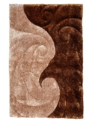 Manhattan Design District Wool Blend Luxury Shag (Tan/Brown)