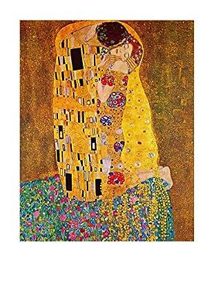 Legendarte Leinwandbild Il Bacio di Gustav Klimt mehrfarbig