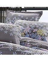 4pcs Rosemary Flower Reactive Printing Bedding Set Pillowcase Quilt Duvet Cover