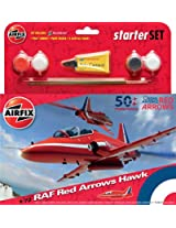 Airfix 1:72 Raf Red Arrows Hawk 50th Display Season Starter Set ()
