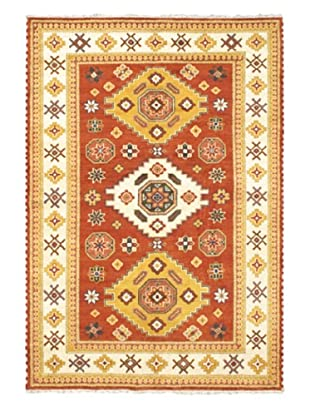 Hand-Knotted Royal Kazak Wool Rug, Copper, 6' 8