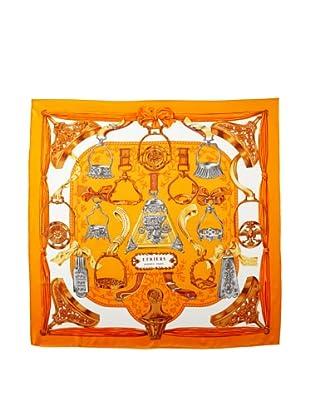 Hermès Women's Etriers Scarf, Orange