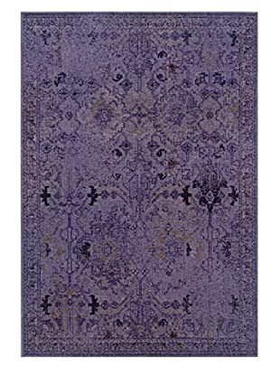 Granville Rugs Vintage Rug (Purple/Grey/Black)